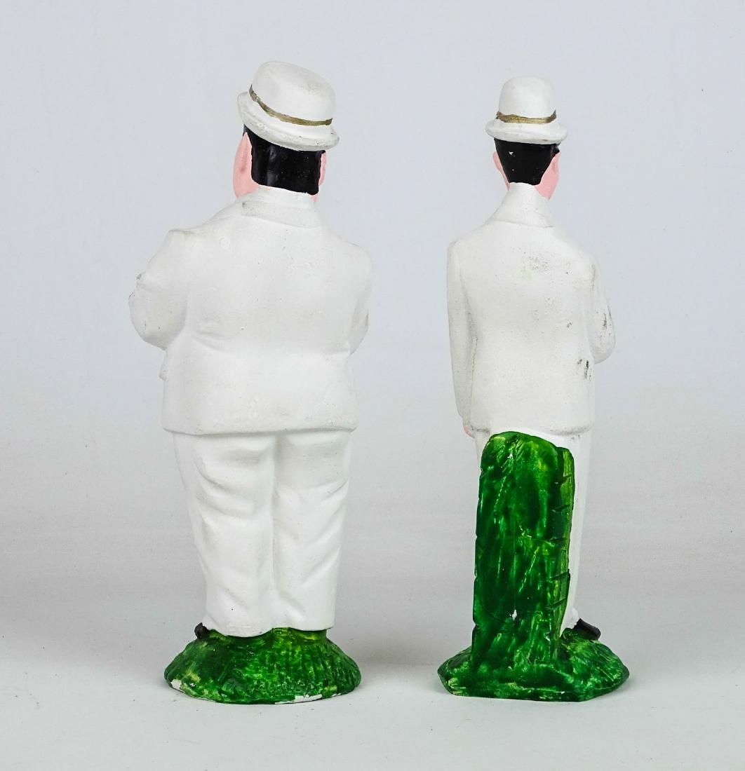 Laurel & Hardy Chalkware Statues - 2