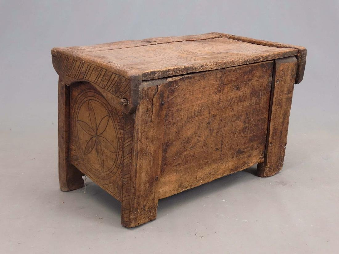 19th c. Carved Trunk - 4