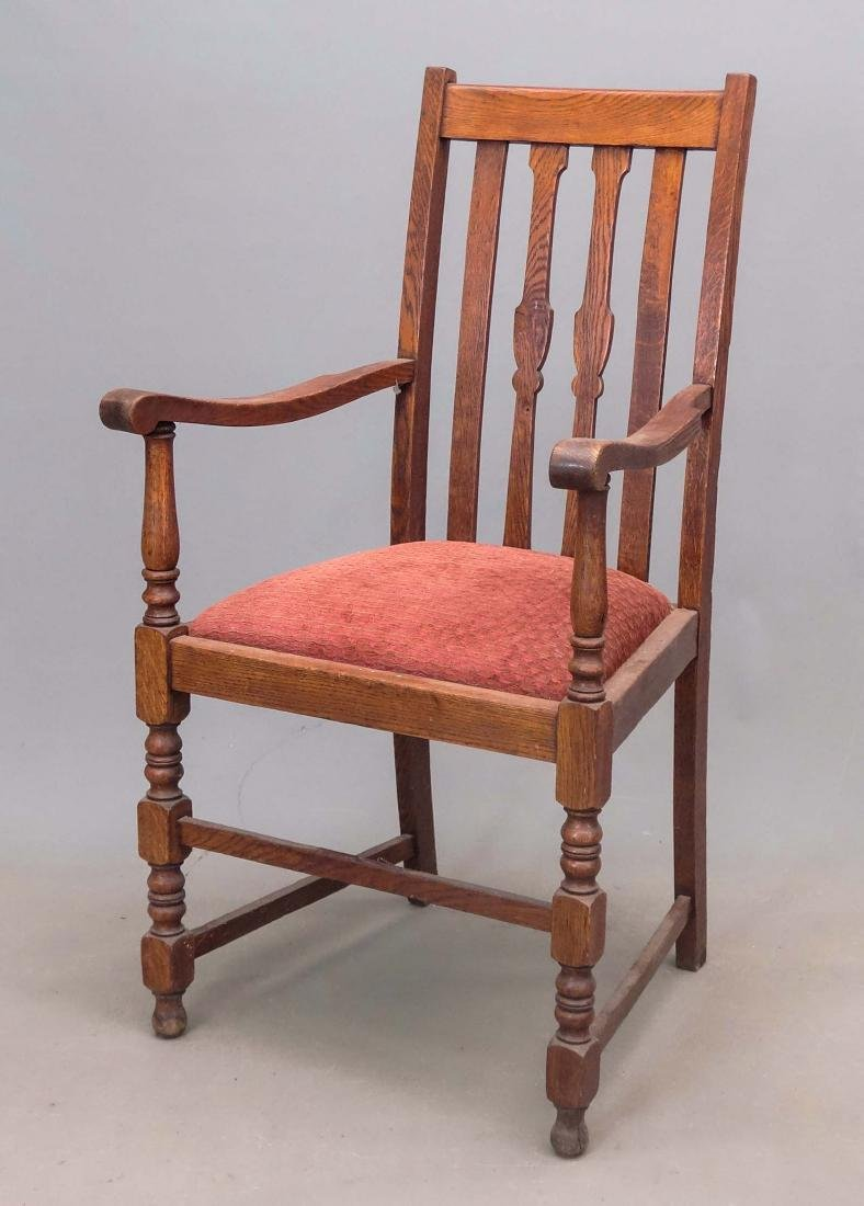 Set Of Oak Dining Chairs - 2