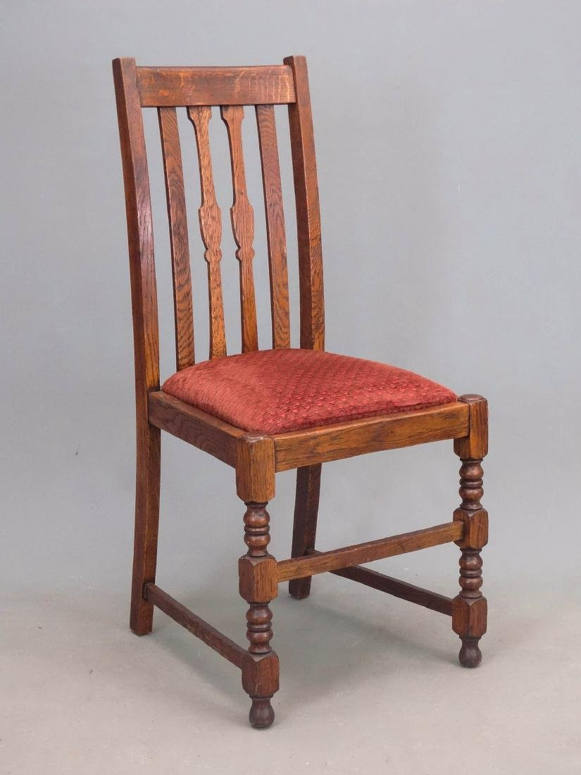 Set Of Oak Dining Chairs - 4
