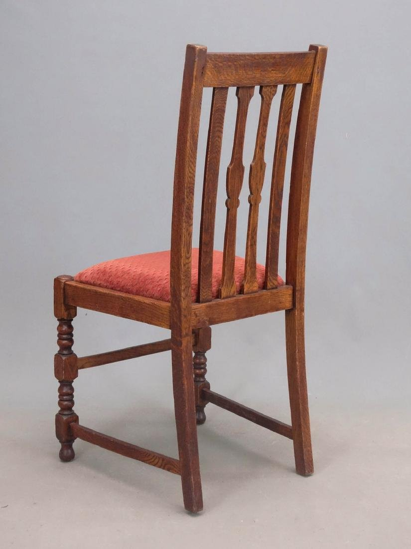 Set Of Oak Dining Chairs - 5