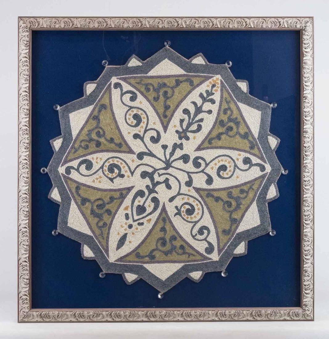 Framed Beaded Textile