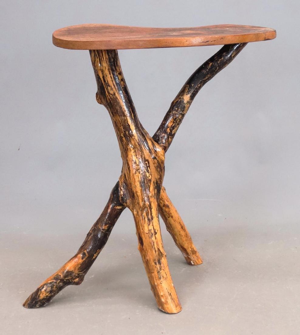 Rustic Lamp Table - 3