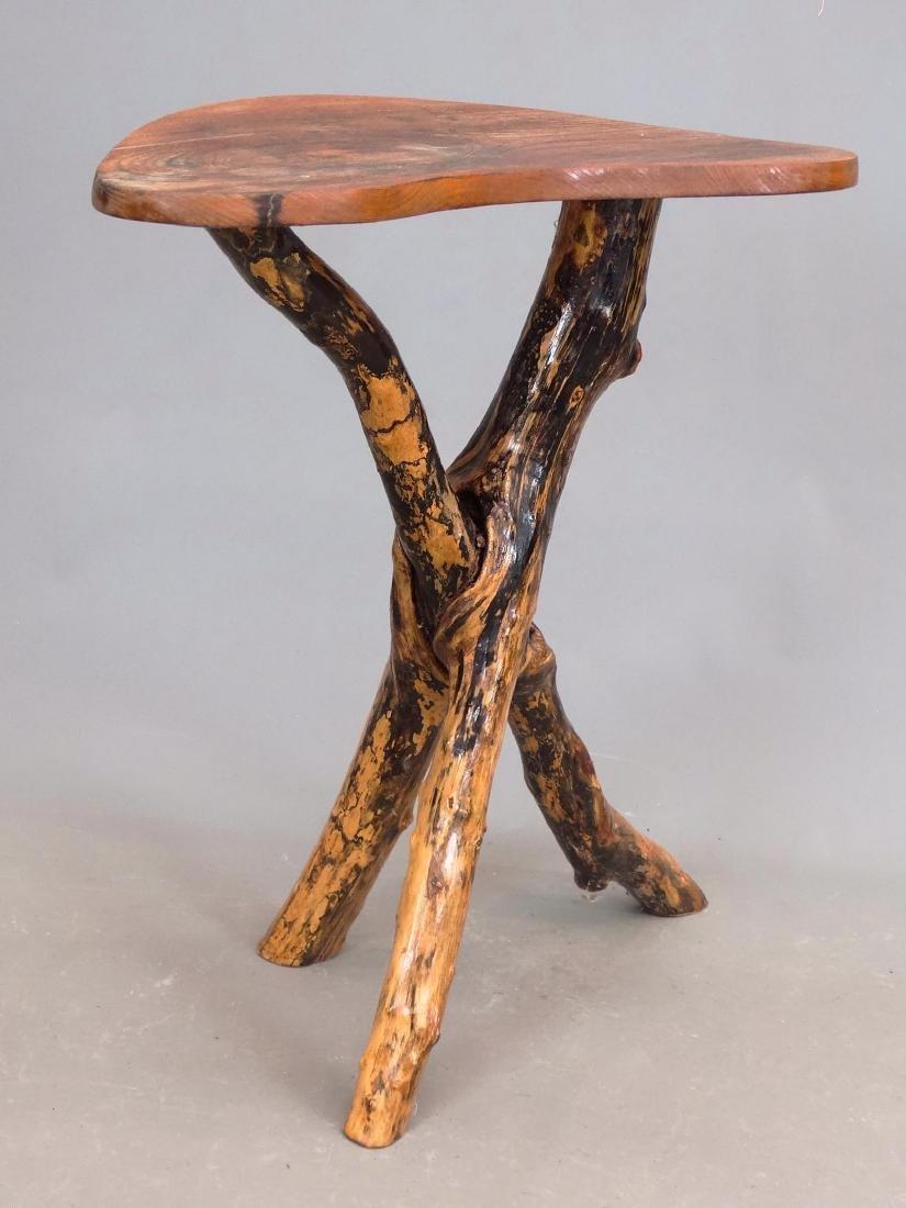 Rustic Lamp Table - 4
