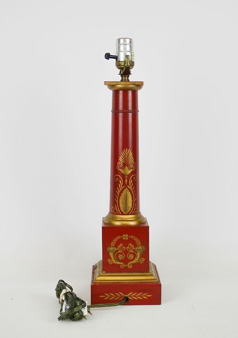 Decorative Toleware Lamp - 2