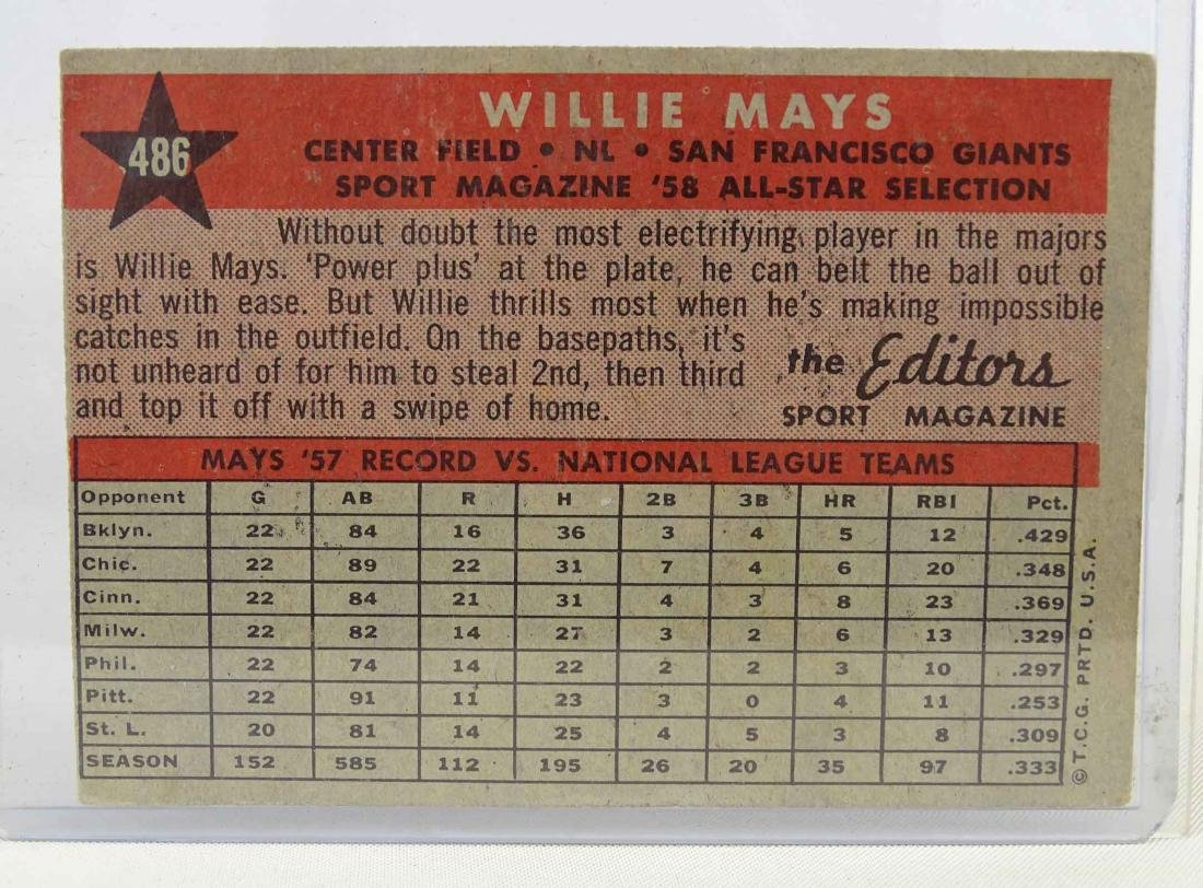 Willie Mays Baseball Card - 2