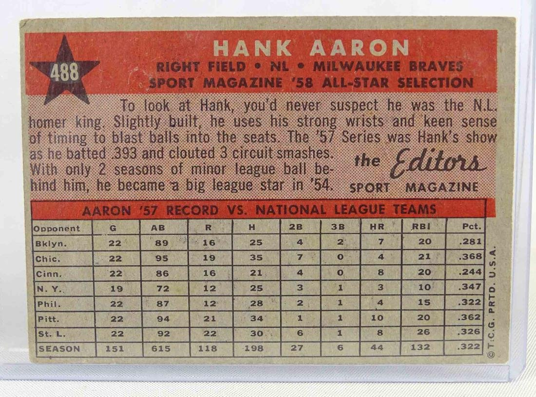 Hank Aaron Baseball Card - 2