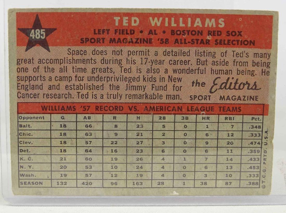 Ted Williams Baseball Card - 2