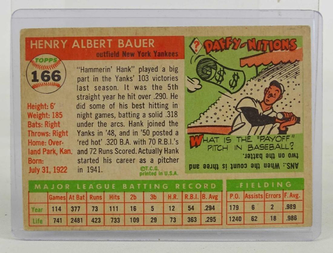 Hank Bauer Baseball Card - 2