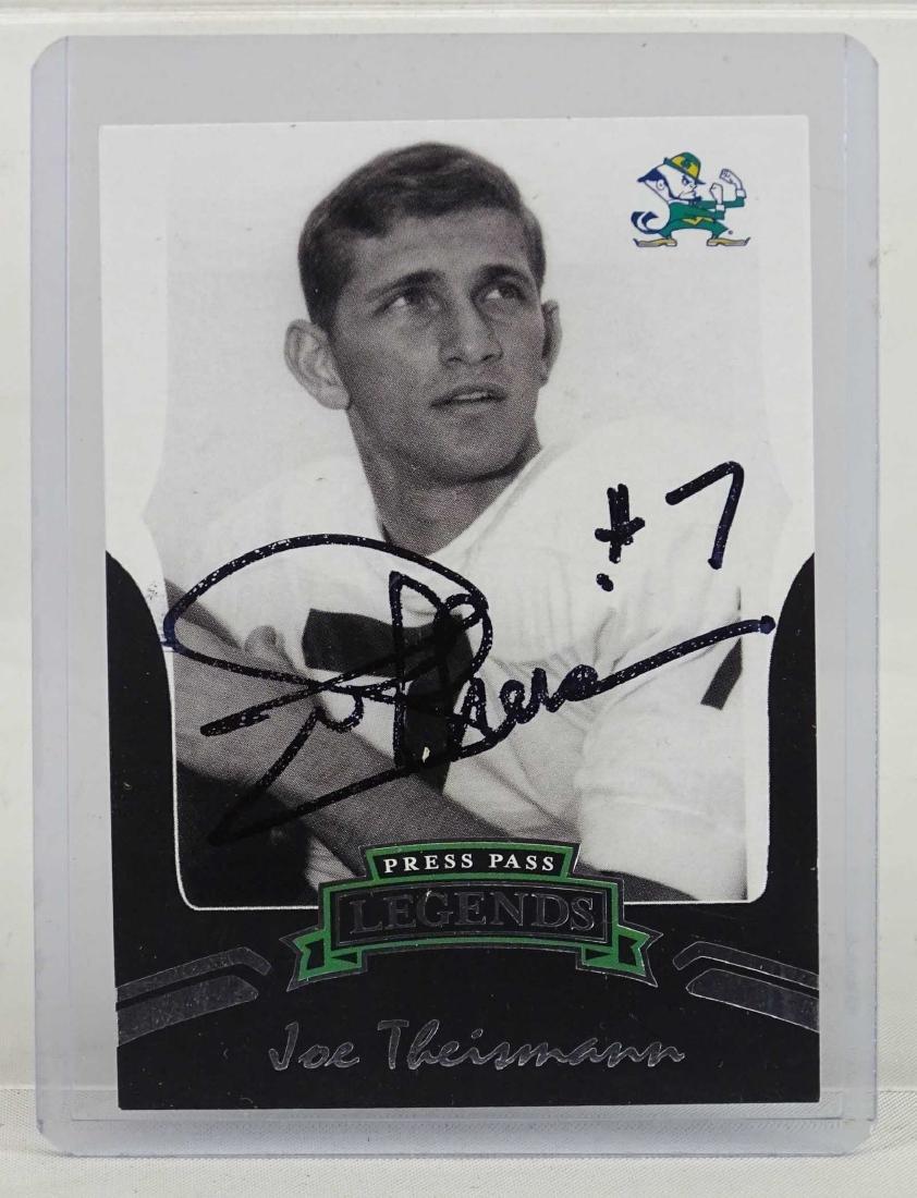 Joe Theisman Autographed Card