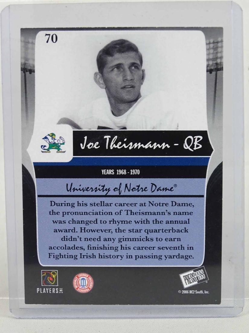 Joe Theisman Autographed Card - 2