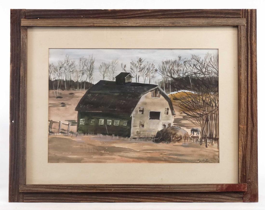 American School, Barn Scene