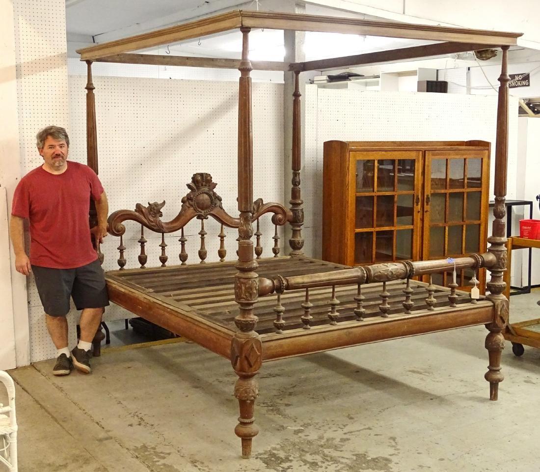 Monumental Carved Bed