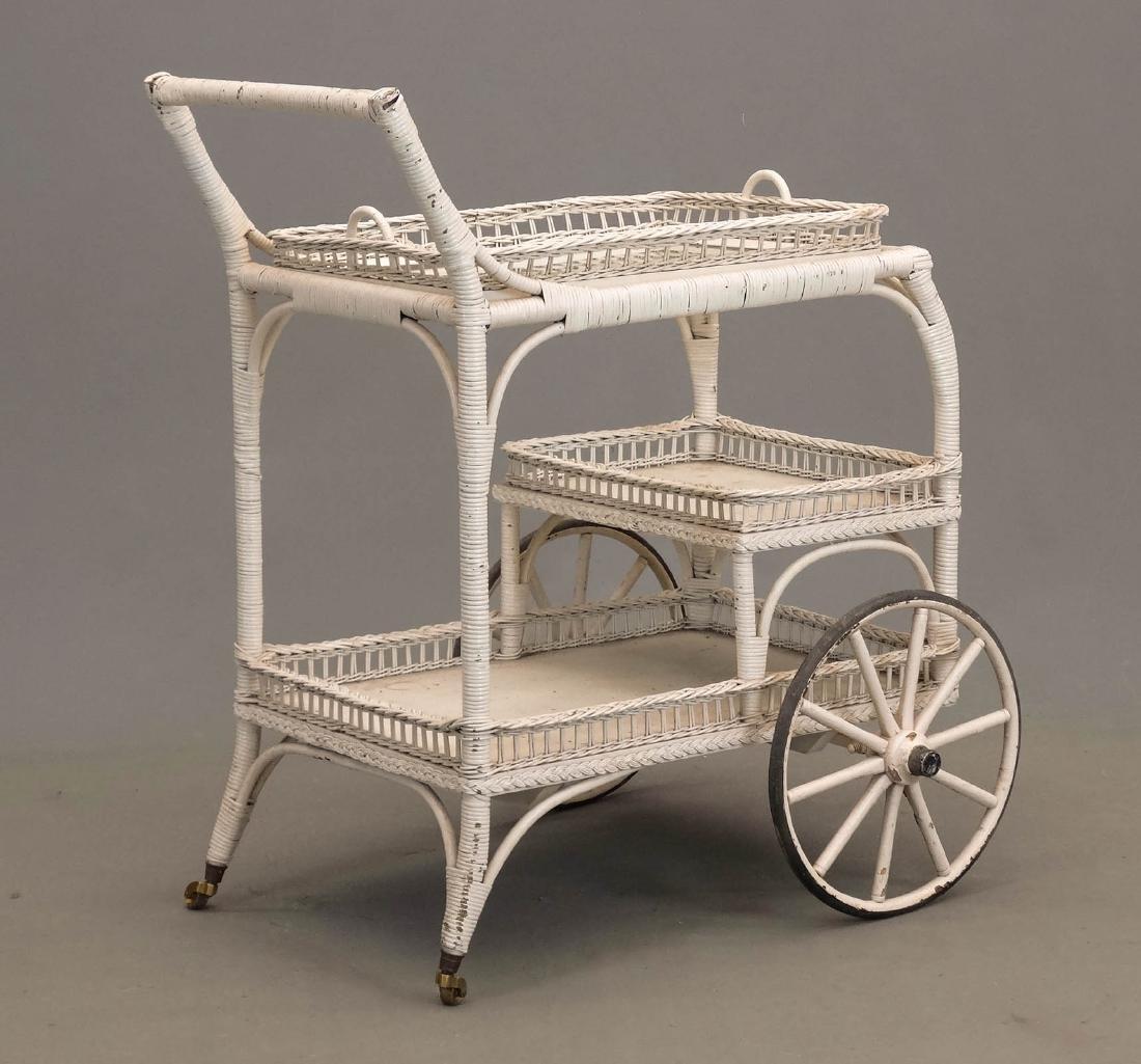 Wicker Tea Cart