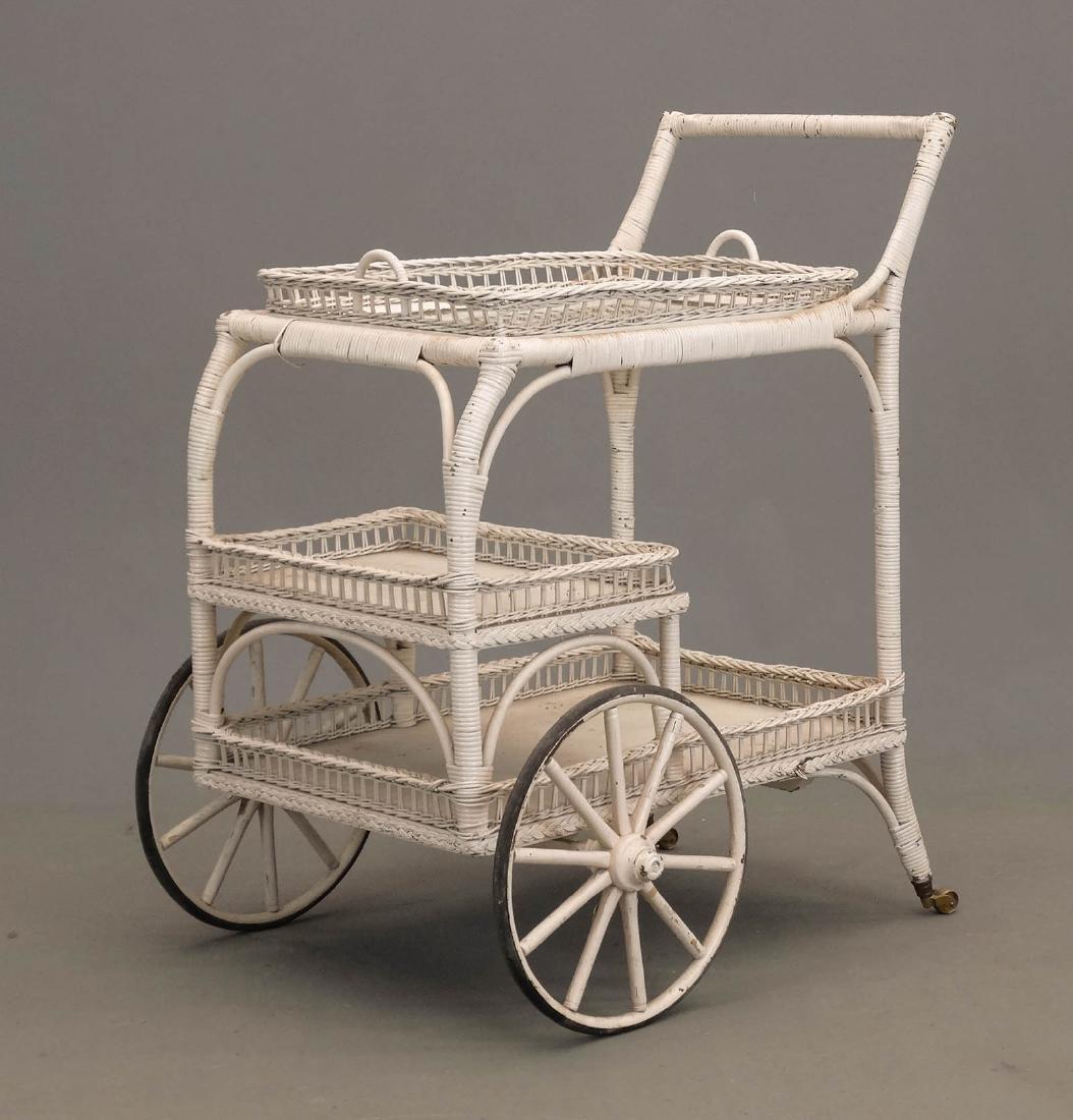 Wicker Tea Cart - 2