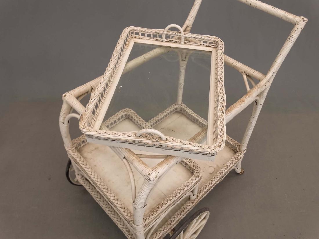 Wicker Tea Cart - 3