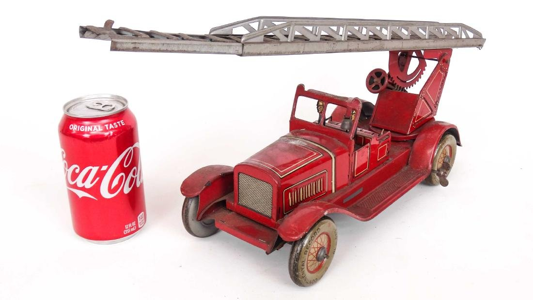 Tin Litho Toy Fire Engine