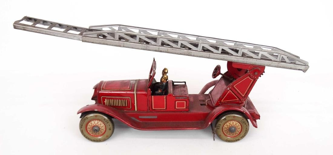 Tin Litho Toy Fire Engine - 2