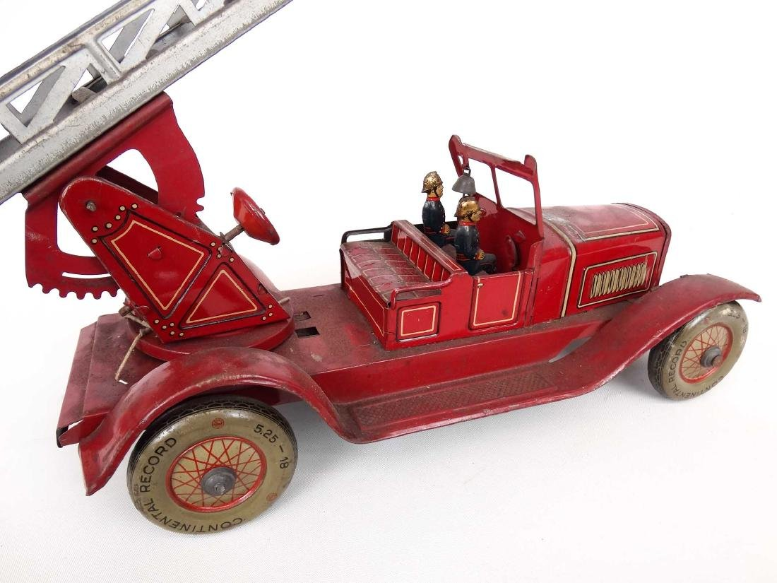 Tin Litho Toy Fire Engine - 4