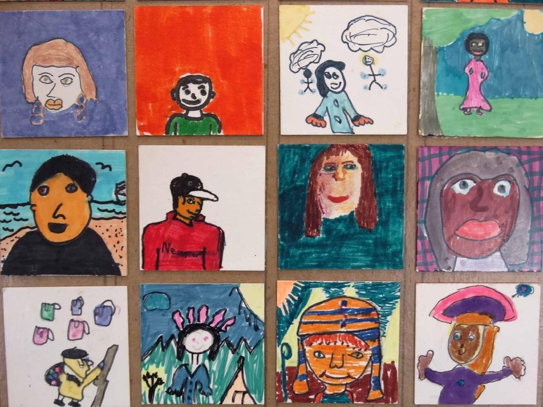 Childrens Self Portrait Artwork - 3