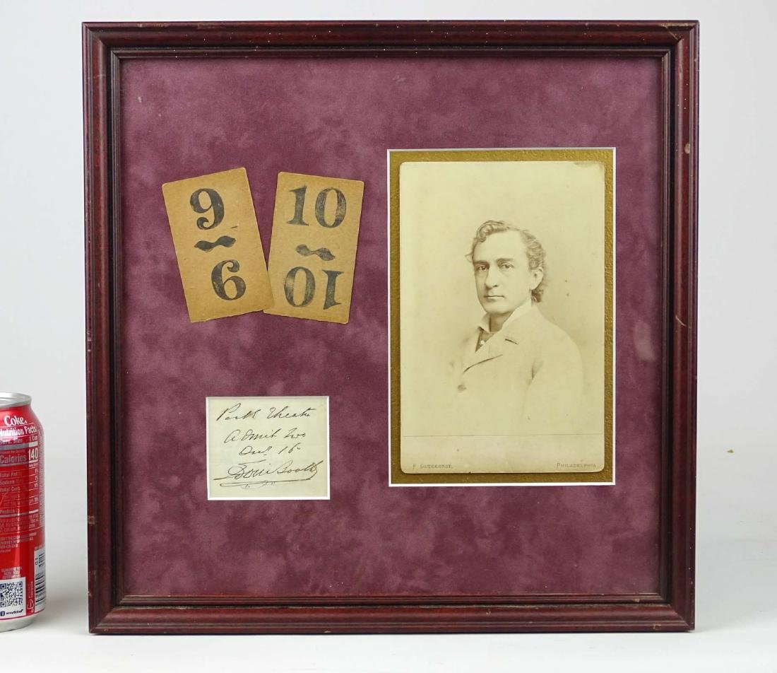 Edwin Booth Cabinet Photograph Lot