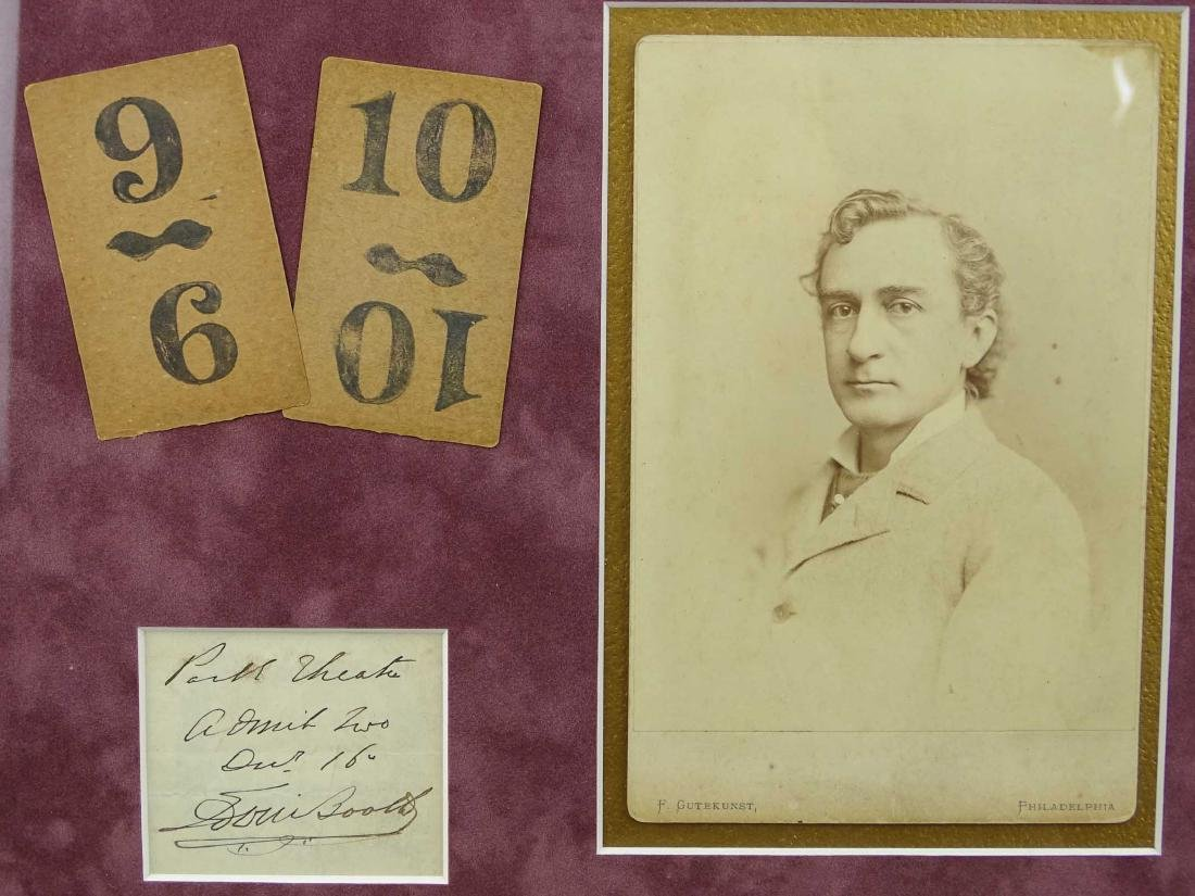 Edwin Booth Cabinet Photograph Lot - 2