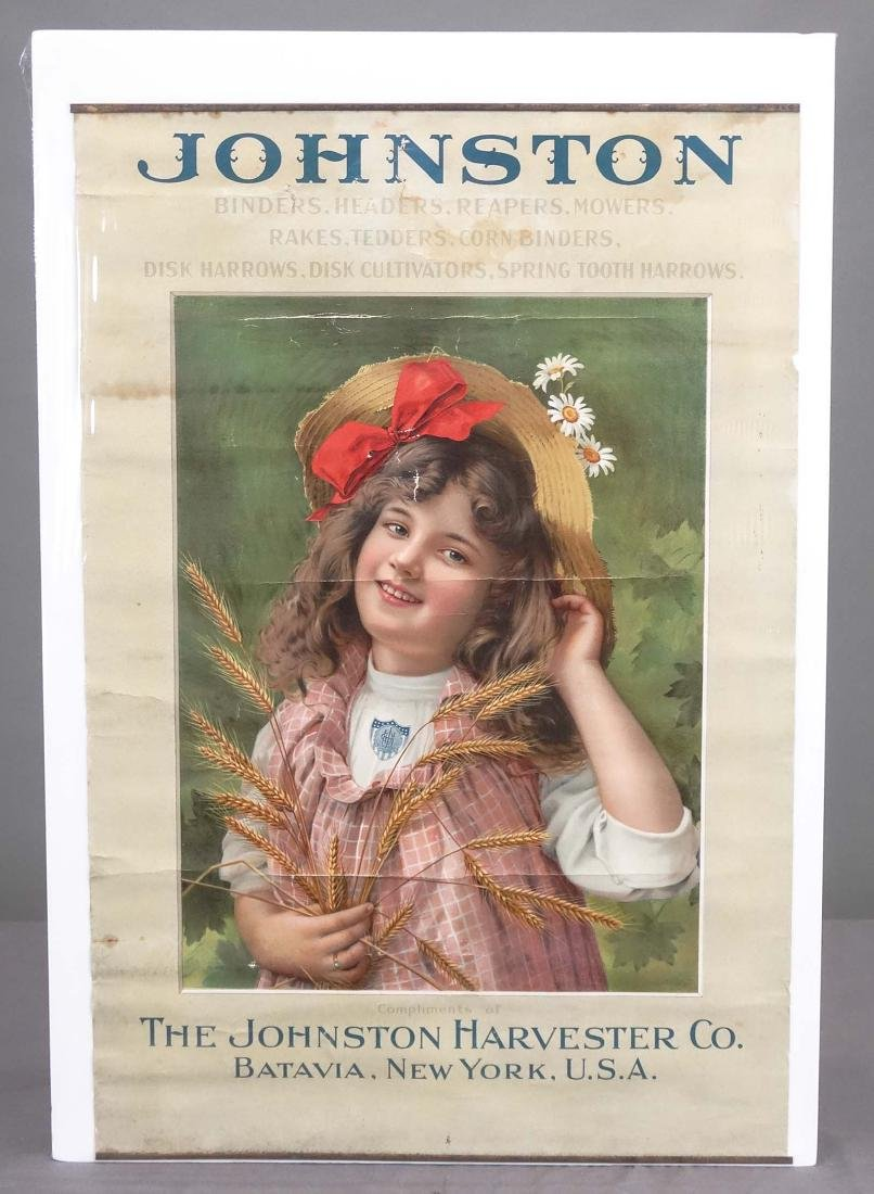 C. 1890's The Johnson Harvester Poster