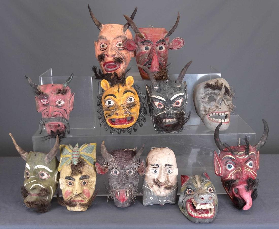 Collection Of Ceremonial Wooden Masks