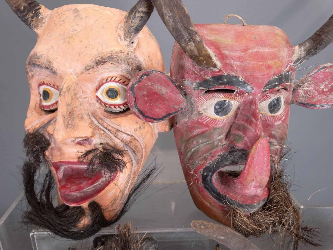 Collection Of Ceremonial Wooden Masks - 2