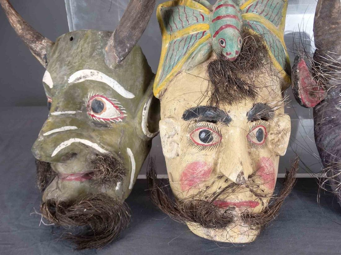 Collection Of Ceremonial Wooden Masks - 4