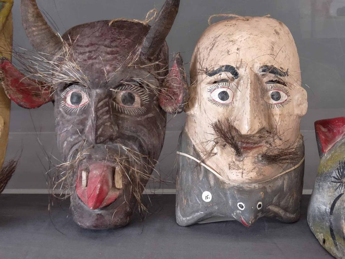 Collection Of Ceremonial Wooden Masks - 5