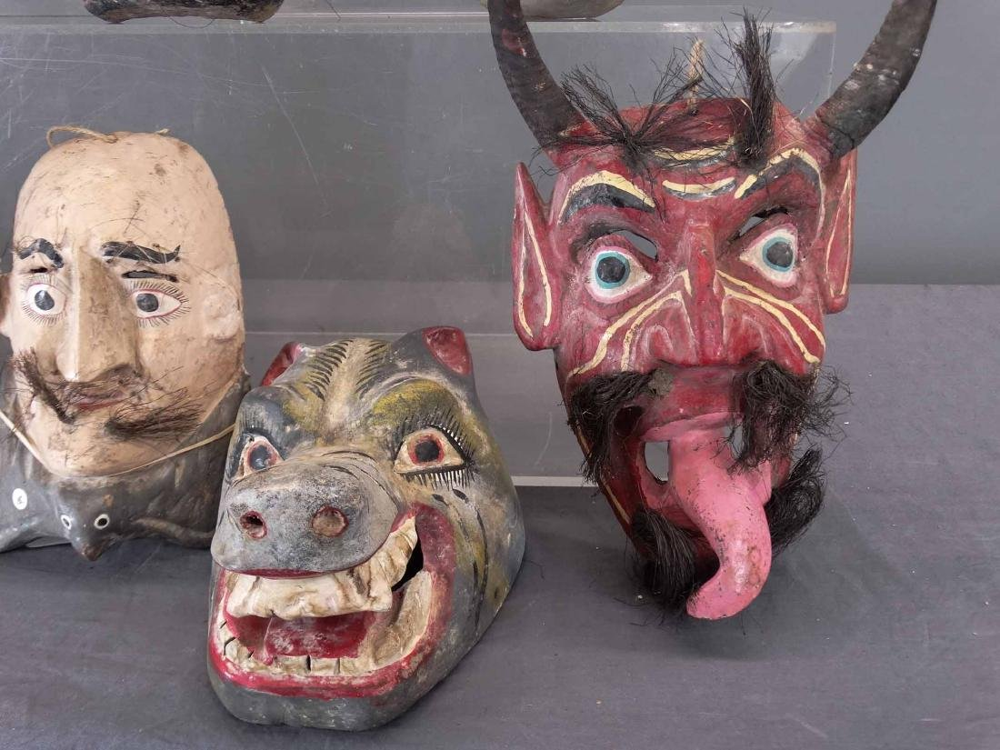 Collection Of Ceremonial Wooden Masks - 6