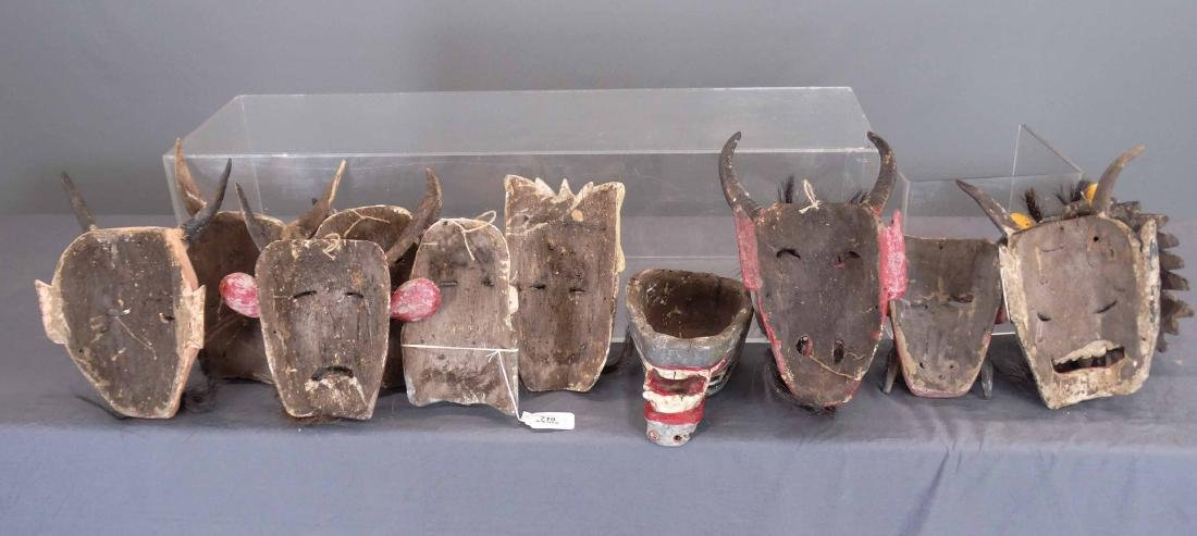 Collection Of Ceremonial Wooden Masks - 8