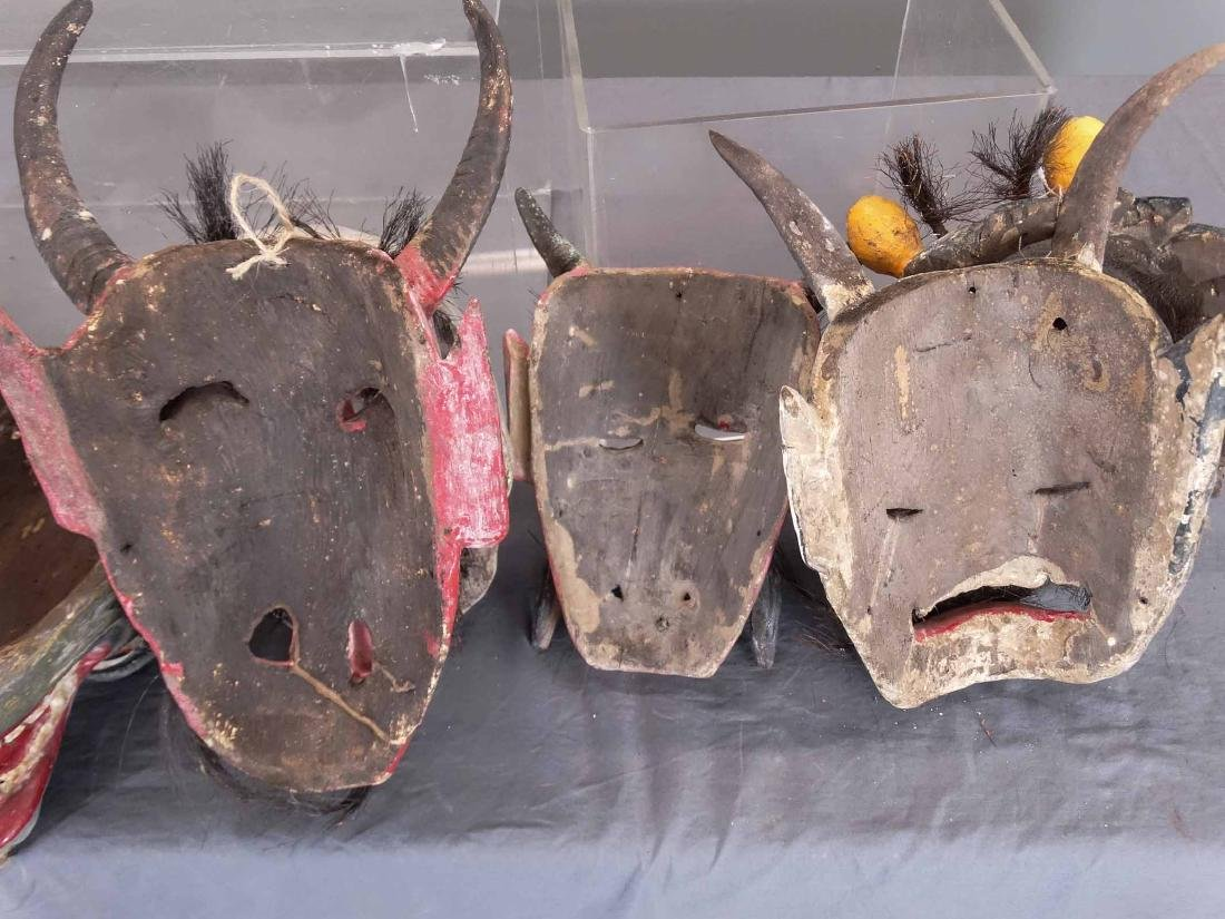 Collection Of Ceremonial Wooden Masks - 9