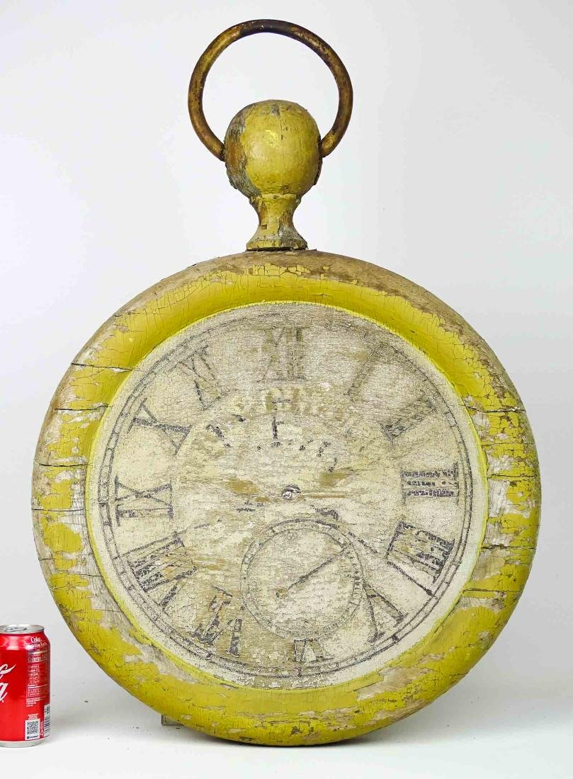 19th c. Wooden Clock Trade Sign