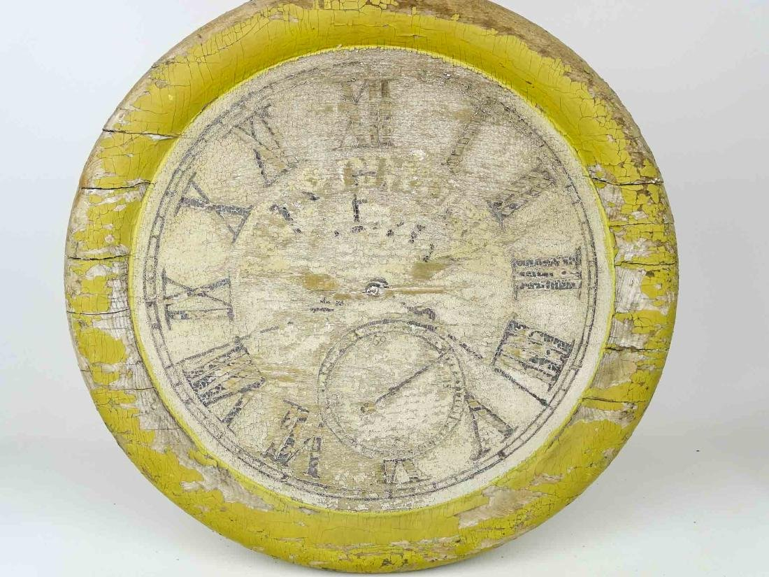 19th c. Wooden Clock Trade Sign - 3
