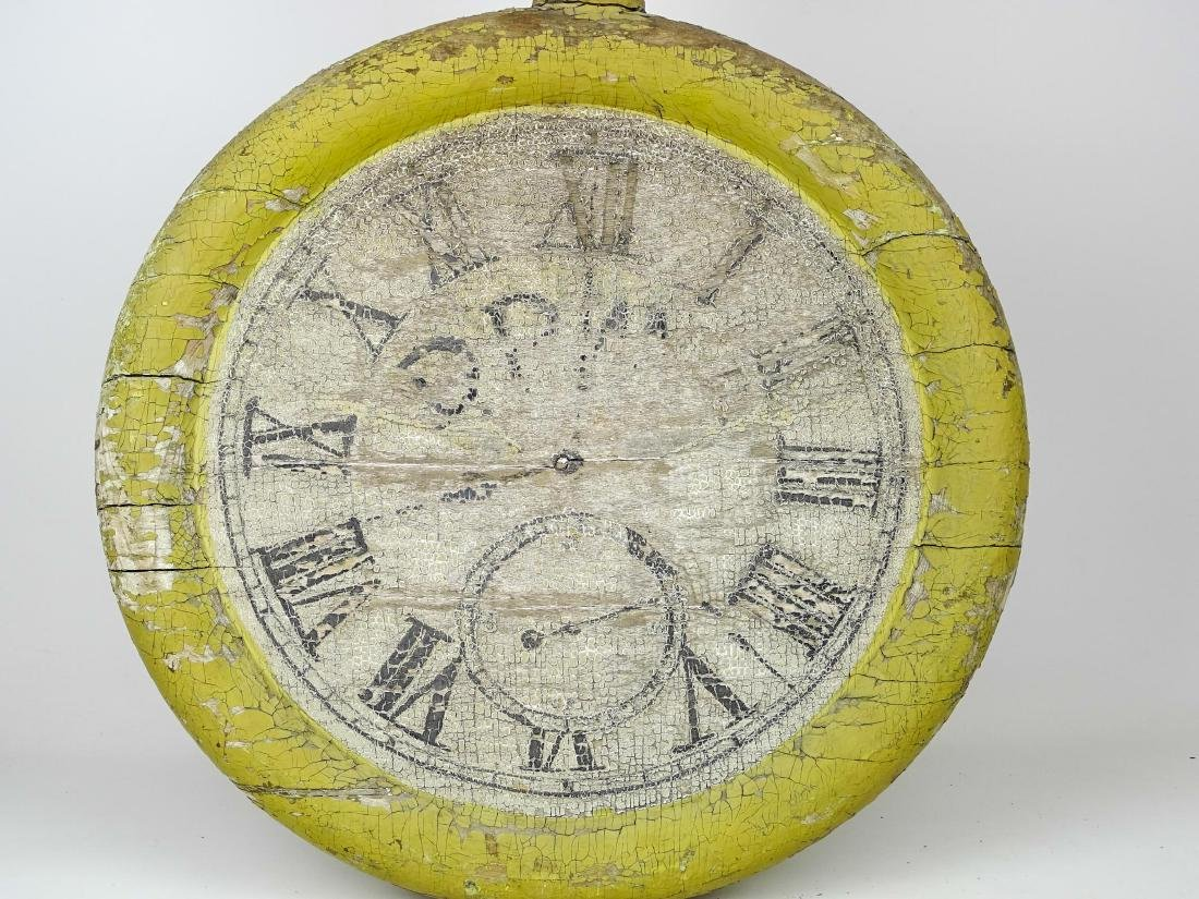 19th c. Wooden Clock Trade Sign - 5