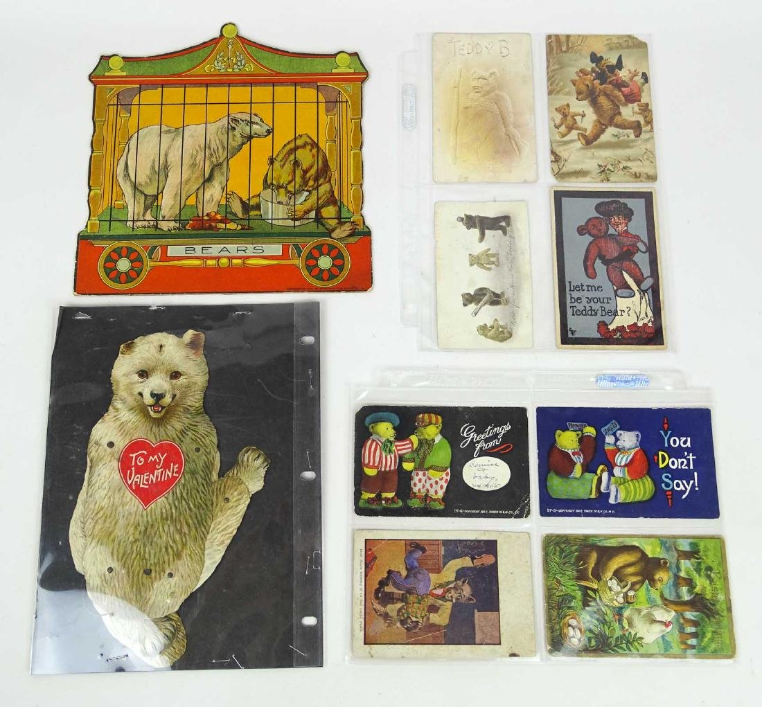 Teddy Bear Postcards & Valentine