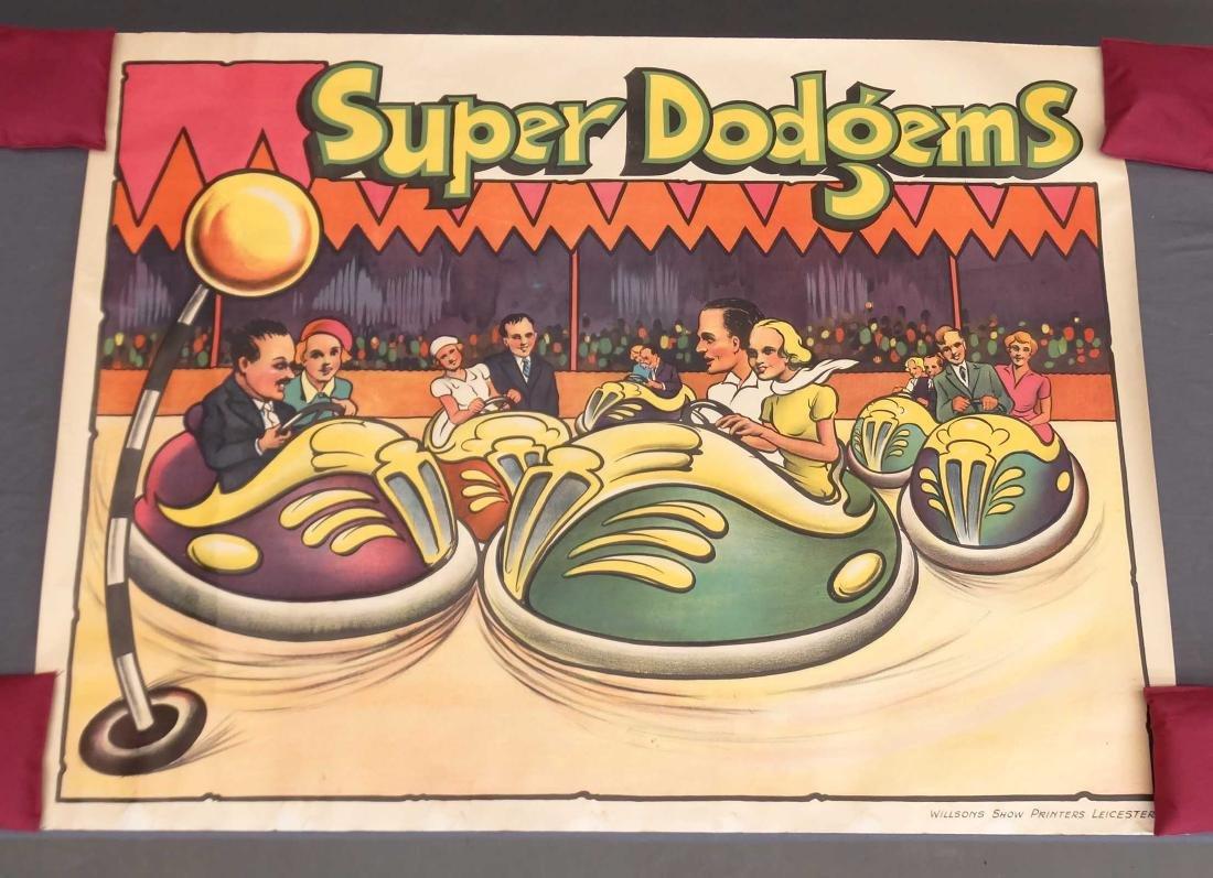 Vintage Super Dodgem Poster