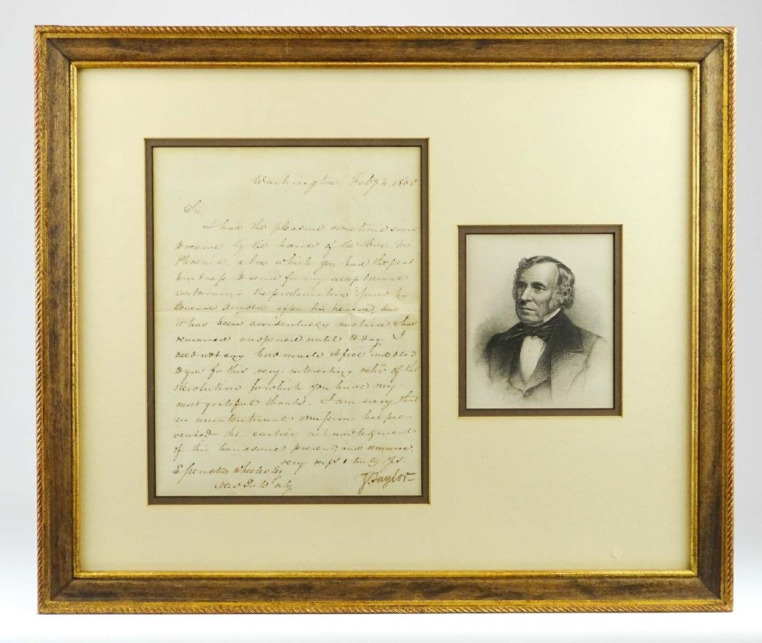 Zachary Taylor Signed Letter