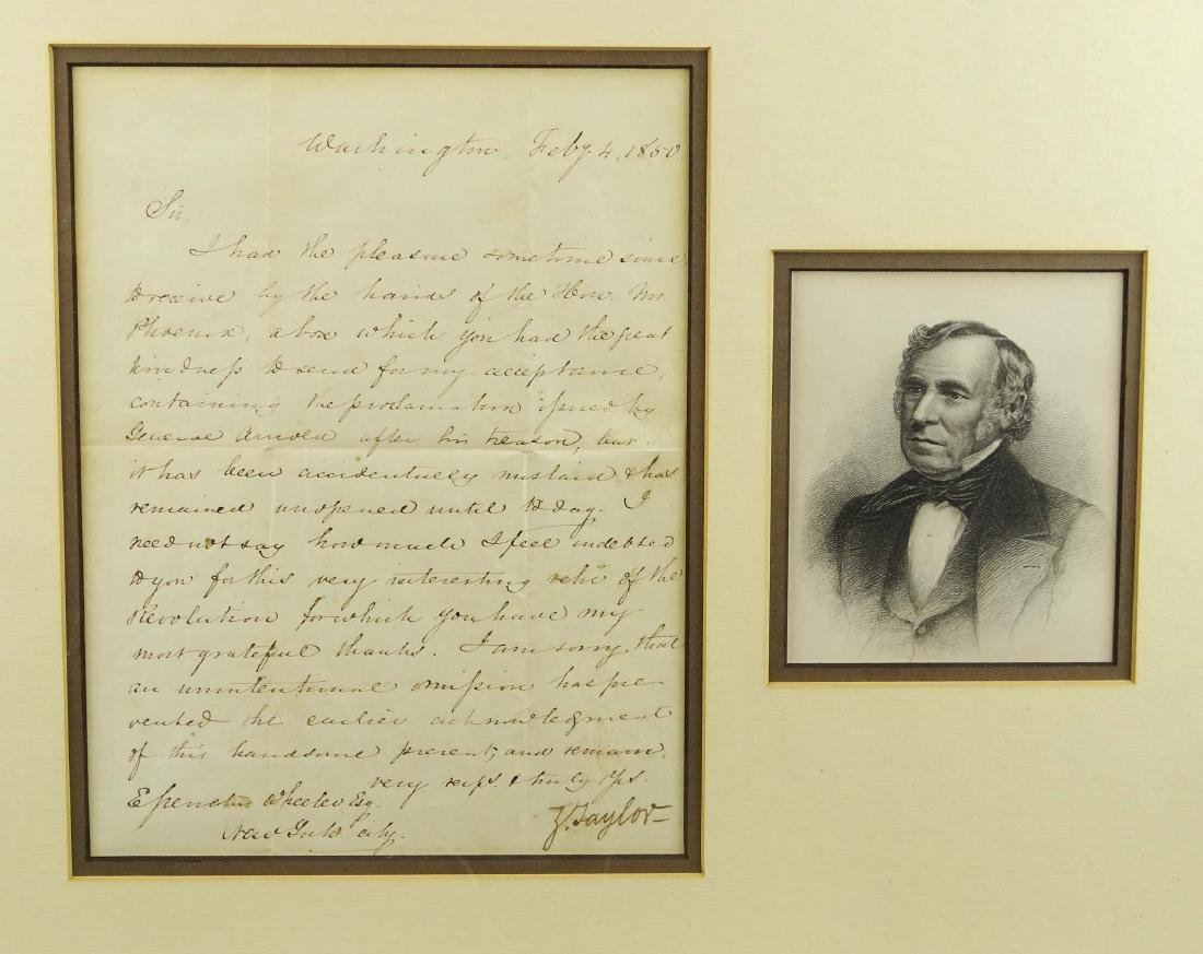 Zachary Taylor Signed Letter - 2