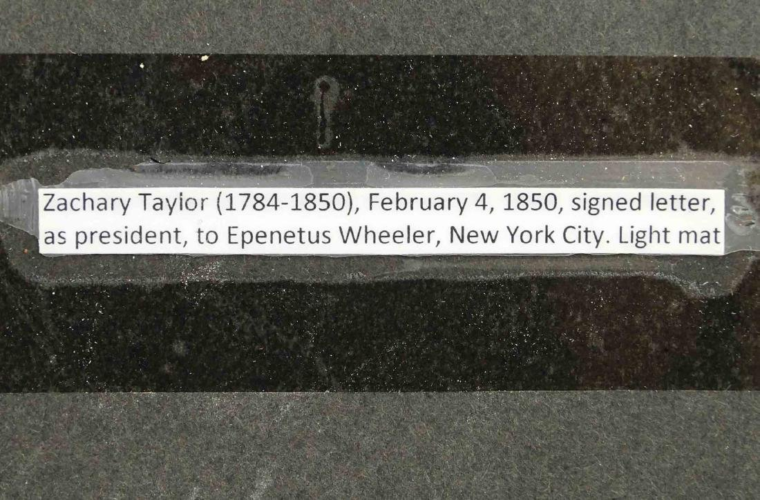 Zachary Taylor Signed Letter - 4