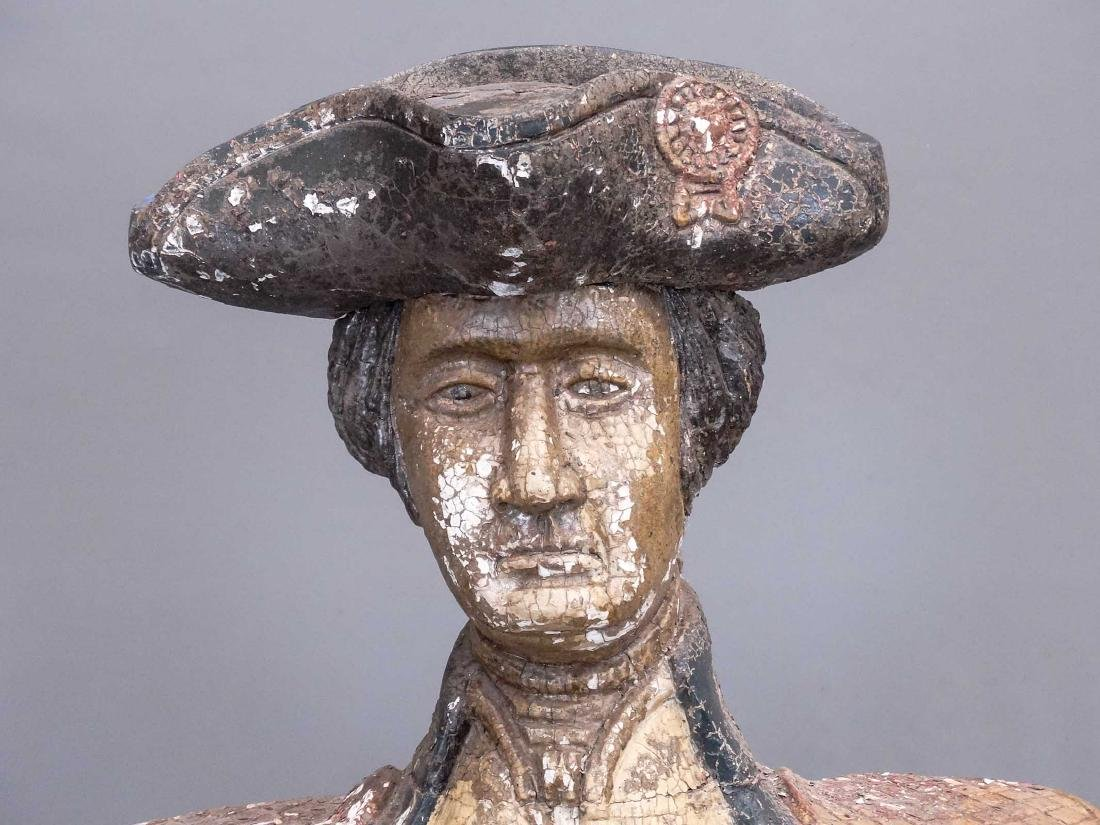 Folk Art Carved Bust Of George Washington - 2