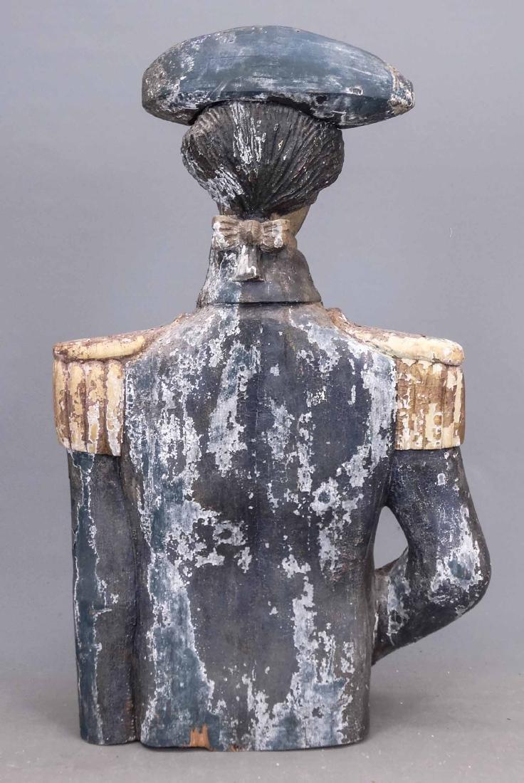 Folk Art Carved Bust Of George Washington - 5