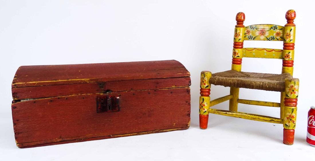 Early Child's Chair & Trunk