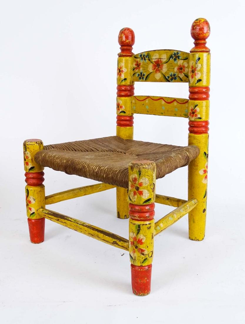 Early Child's Chair & Trunk - 8