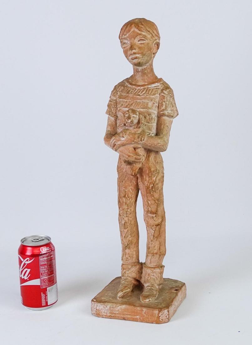 Terra Cotta Statue Signed Leonard Art Works