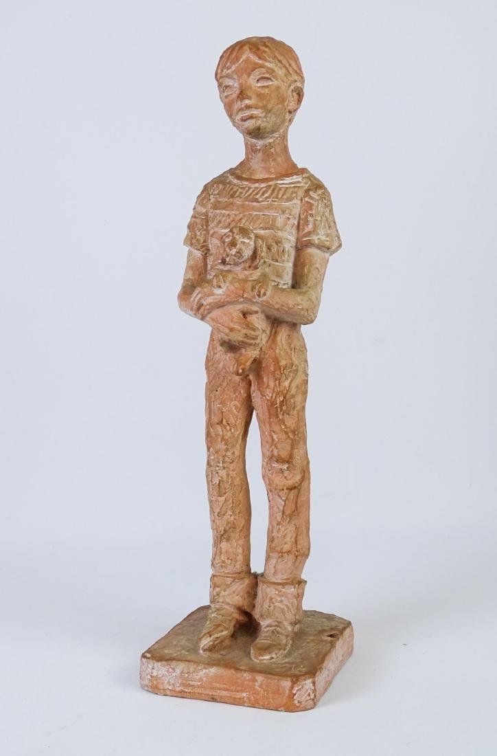 Terra Cotta Statue Signed Leonard Art Works - 2