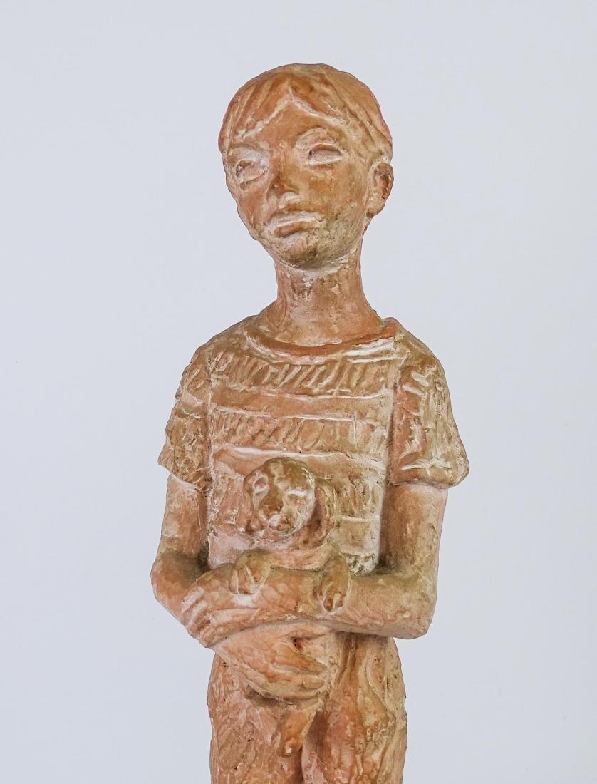 Terra Cotta Statue Signed Leonard Art Works - 3