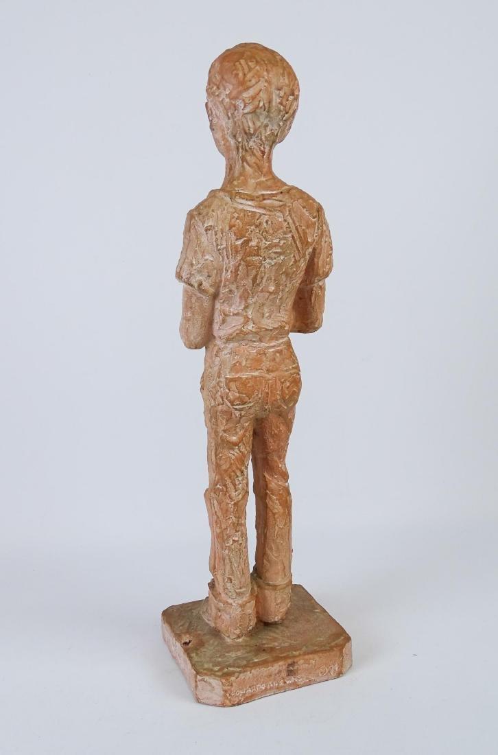Terra Cotta Statue Signed Leonard Art Works - 4